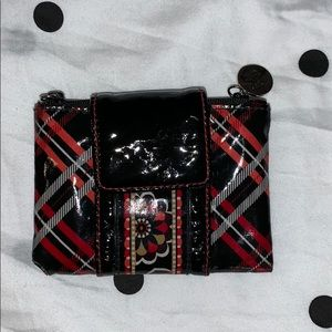Frill by Vera Bradley black, red, and white wallet